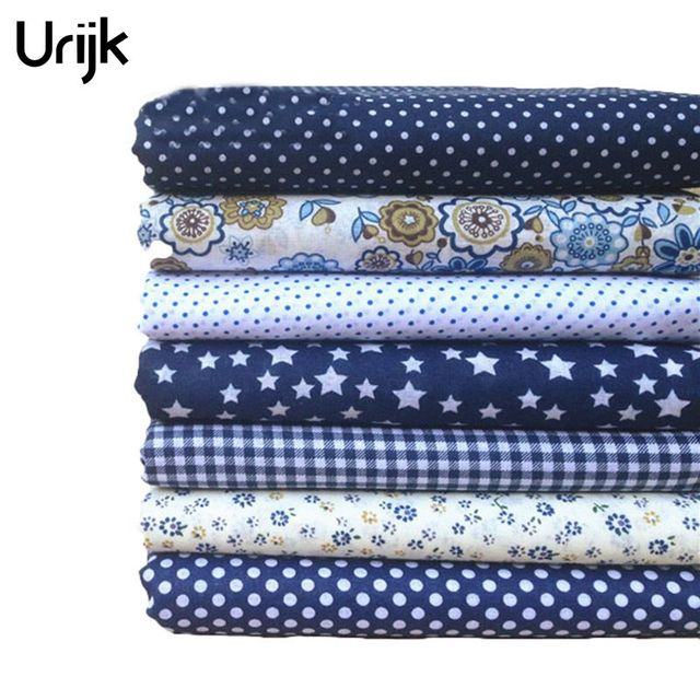 Urijk 7 Stücke Gemischt Baumwolle DIY Handarbeit Nähen Dekoration Günstige Stoffe Für Patchwork Hand Zubehör 25x25 cm