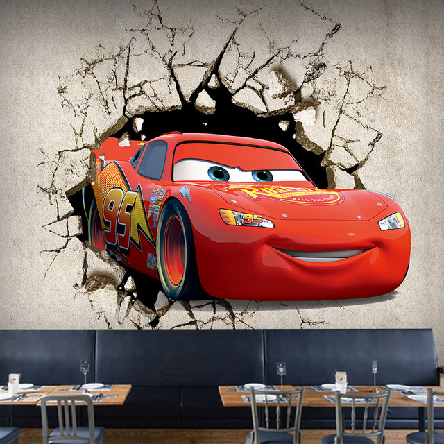3D Mural Wallpaper High Quality Custom Non-woven Cars Broken Wall Mural Living Room Restaurant Personality Decoration Wallpapers