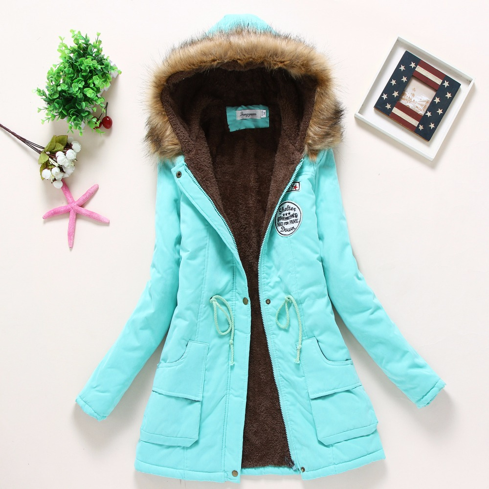 2018 women winter thicken warm coat female autumn hooded cotton fur plus size basic jacket outerwear slim long ladies chaqueta