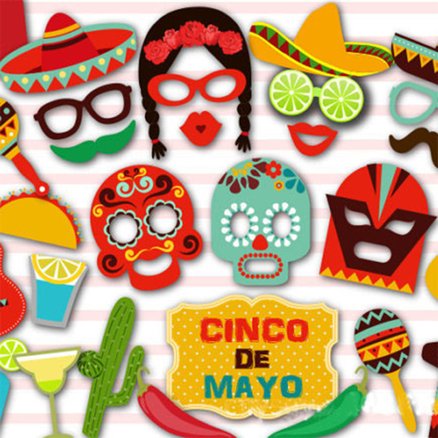 29 Pcs/set New Mexican Theme Photo Props Kit Decorations