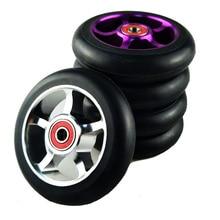 100mm Scooter Wheels Skateboard Wheelchair wheel Aluminium Alloy Steel Hub 2 pieces 88A High Elasticity Precision speed skating