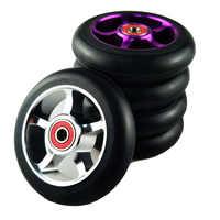2 unids/lote 88A 100mm Scooter rueda aluminio aleación acero Hub alta elasticidad y precisión patinaje de velocidad Skateboard rueda A103