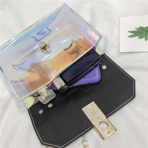 Image 3 - Sacs à main de mode sac Messenger sac à main en PVC sac à bandoulière design boucle sac à bandoulière laser