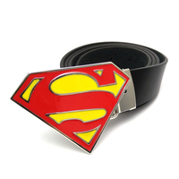 Mens Fashion Superman Belt Superhero Belt Buckle Pu Leather Cinturones Hombre Cuero Cowboy Belt In Jeans
