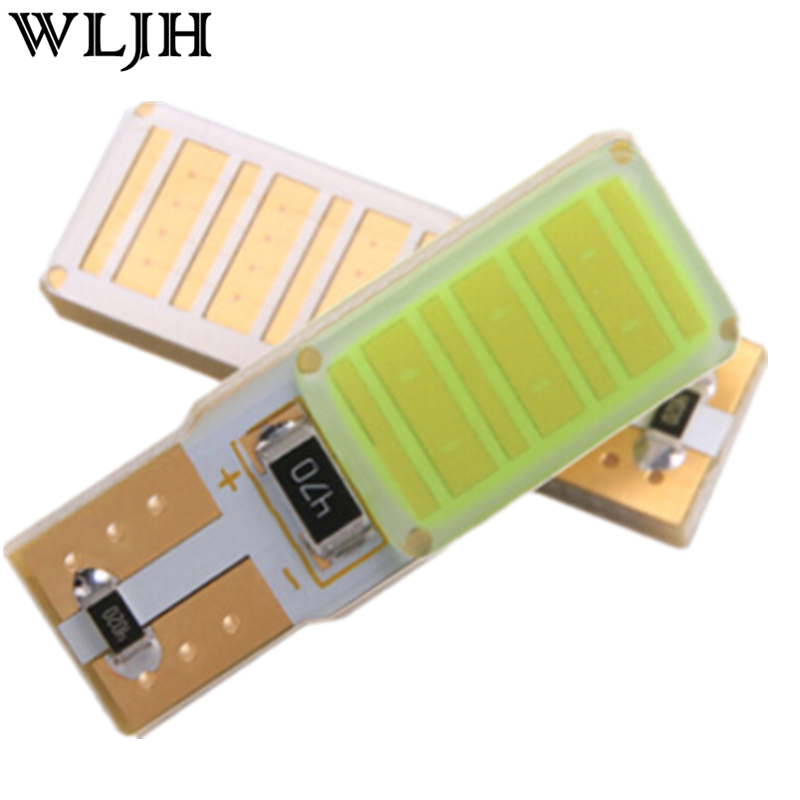 WLJH 2x High Power Canbus No Error Led W5W T10 Led COB Car Bulb Lamp Interior Parking Light External Lights Universal Auto LED