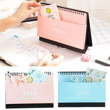 Cobee Cute kawaii Schedule Desk Calendar Planner DIY Simple Envelope 2018 Memo Study Planning Children gifts office supplies