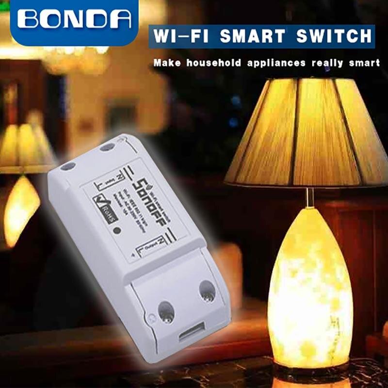 Itead Sonoff di Base Wifi Interruttore FAI DA TE Senza Fili A Distanza Domotica Luce Smart Home, Casa Intelligente Automazione Relè Modulo di Controllo di Lavoro con Alexa