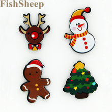 FishSheep 4 Pz/set Merry Christmas Snowman Spilla Acrilico Pins E Spille Per Le Donne I Bambini Regali di Nuovo Anno Decorazione Accessori(China)