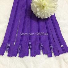 20 unids cremalleras Tailor de Nylon de la bobina herramientas de costura Craft 9 pulgadas de color púrpura