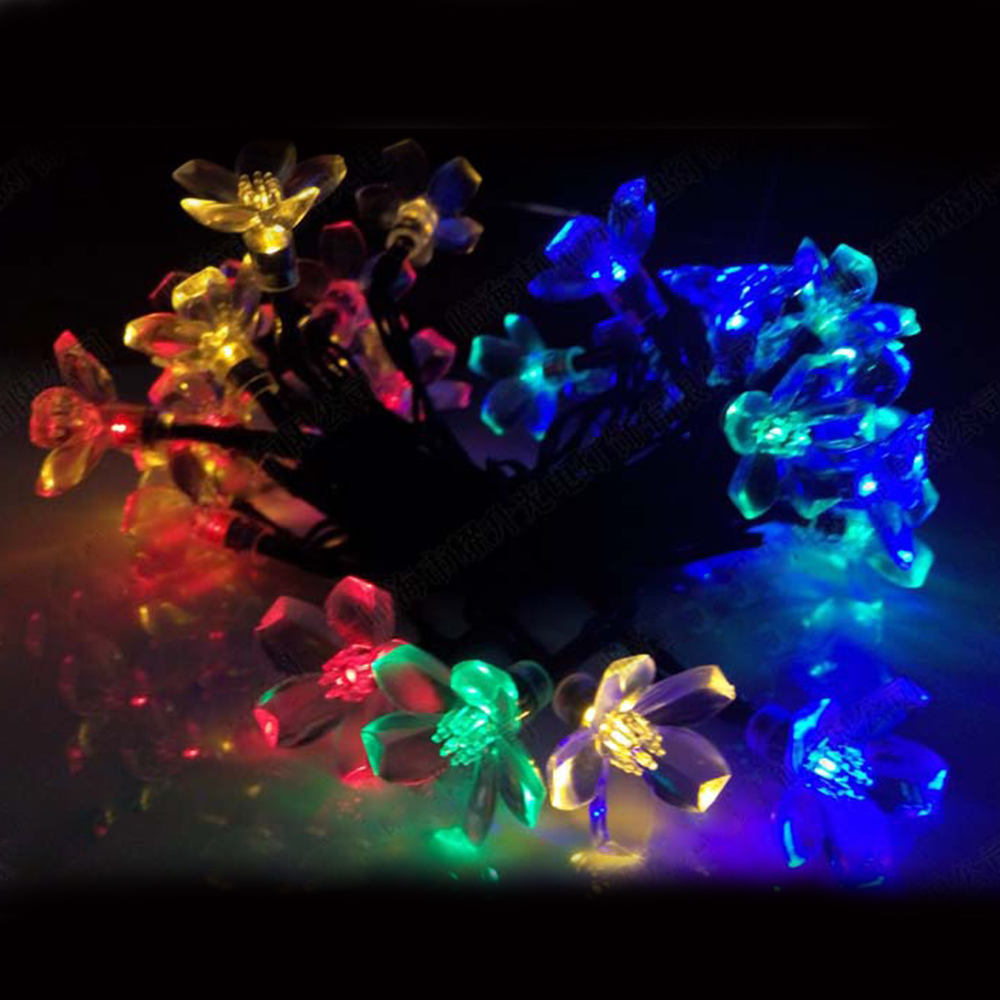 Christmas Lights Outdoor 30 LED Solar String Lights Flower Garden Light Blossom Lighting for Home Wedding Party Decoration