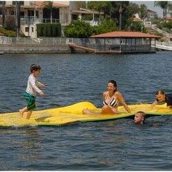 Attrezzature parco acquatico enorme schiuma tappeto galleggiante acqua gigante commerciale tappeto di schiuma