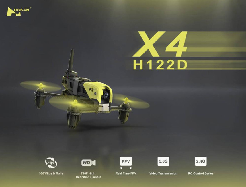 Newest mini hubsan H122D X4 RC Helicopter with HD Camera 5.8G FPV Micro speed Racing Drone quadcopter remote control RTF