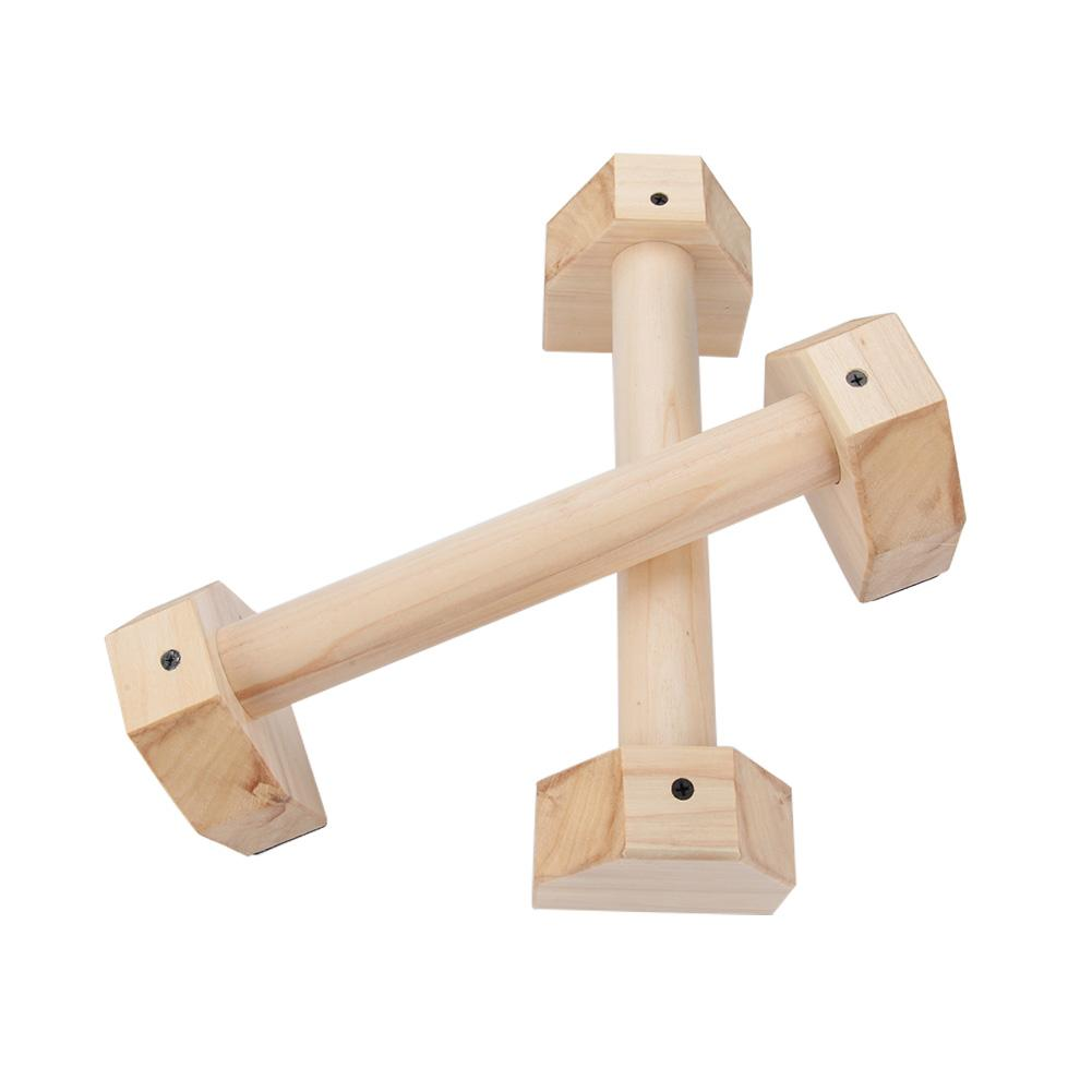 2PCS H Shaped Wooden Calisthenics Handstand Personalized Parallel Bar Double Rod Push-Up Stand image