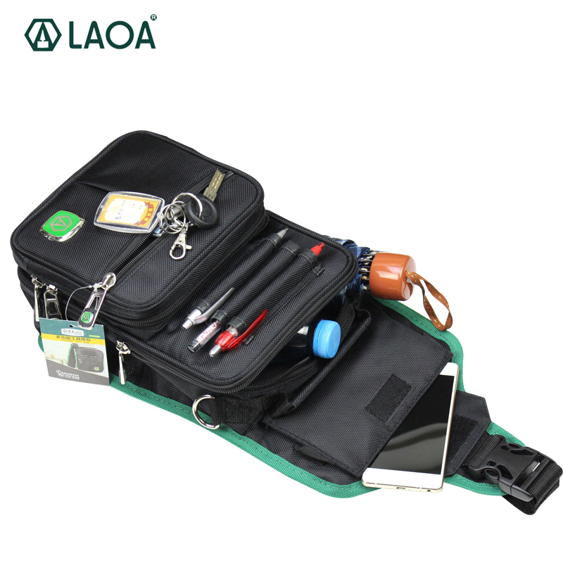 LAOA Multifunction Messenger Bag Mechanic's Electrician Canvas Tool Bag Water-Proof Travel Pouch canvas kit multifunction waist bag electrician repair water resistant pockets tool bag