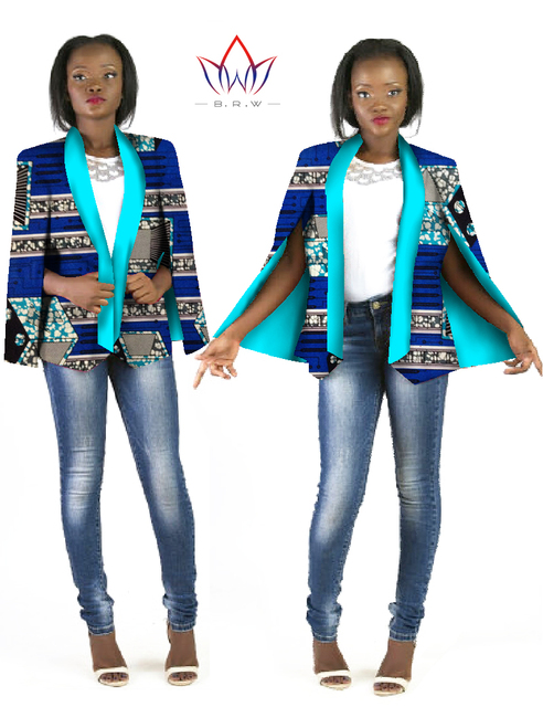bazin african clothes women dashiki top African Clothing for Women Ropa Mujer Trench Women Fashion Clothing Brand cotton WY630
