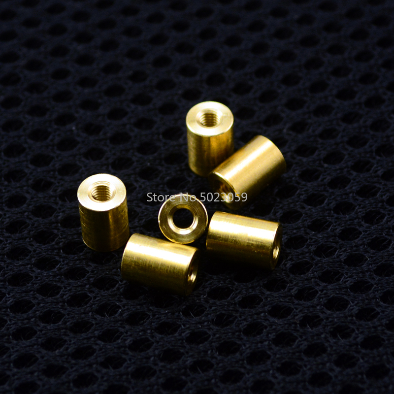 10 Pieces Brass Connecting Pipe Rivet Cheese M3 M3.5 Thread Diy Knife Material Making Knife Handle Screw Cylindrical Nuts