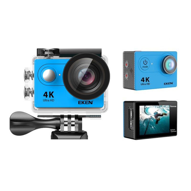 Original EKEN H9 Action camera Ultra HD 4K / 25fps WiFi 2.0 170D underwater waterproof Helmet Cam camera Sport cam original eken sports camera h9 h9r action camera 4k 25fps with remote 2 0 helmet ultra hd cam underwater go waterproof pro