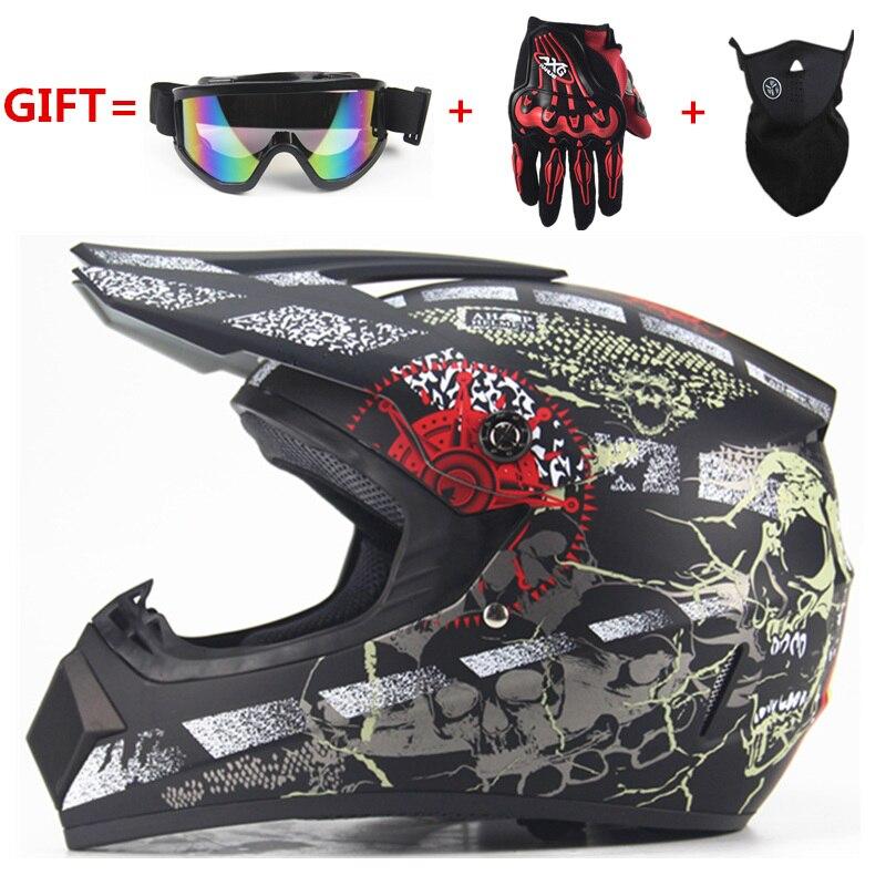 Envío Gratis motocicleta adulto motocross Off Road casco ATV Dirt bike Downhill MTB DH racing casco cross casco capacetes