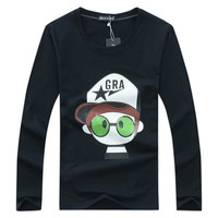 Boy Child Shirt Long Sleeve T Shirt Male Character Long Sleeve Tops Clothing Cotton Casual T
