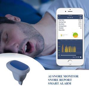Image 1 - AI horultu kesici akıllı Anti horlama cihazı ile sessiz titreşim uyarısı ücretsiz APP ile horlama raporu