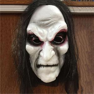 Image 4 - Halloween Zombie Mask Props Grudge Ghost Hedging Zombie Mask Realistic Masquerade Halloween Mask Long Hair Ghost Scary Mask
