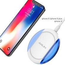ARUN D'origine Sans Fil Chargeur Rapide Une Meilleure Compatibilité Universelle pour iPhone 8 et iPhone X Samsung Galaxy avec Système QI Frais