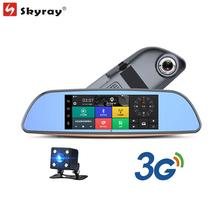 7″ IPS Touch Screen 3G Rearview Mirror Camera GPS Navigation FHD 1080P Dual Lens Car DVR Bluetooth WIFI FM Android 5.0 Camcorder