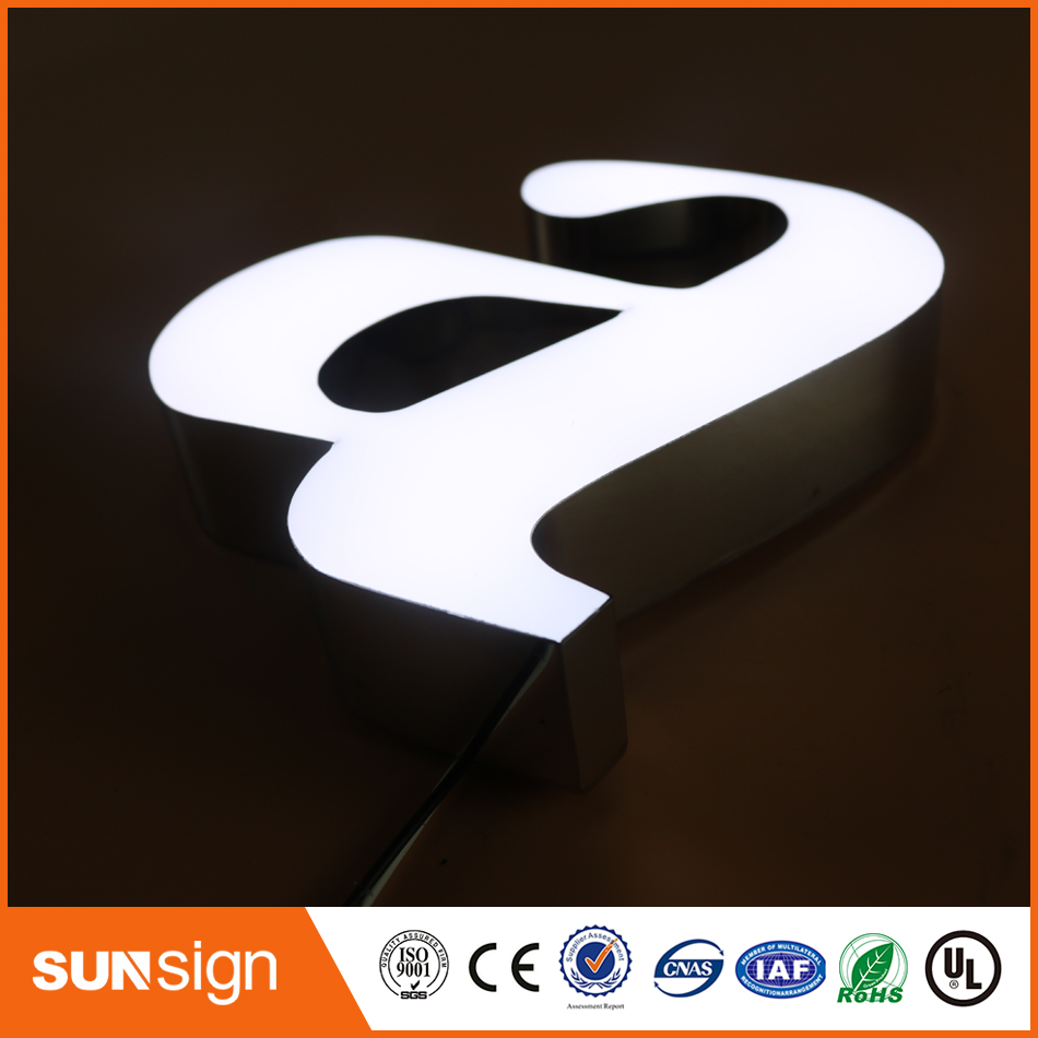 2016 Hot Sale Led Frontlit Letter Sign,led Resin Letter Sign