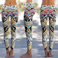 Fashion Women Workout Leggings Fitness High Waist Elastic 3D Flower Printed Women Leggings Casual Workout Slim Leggins Pants Y1