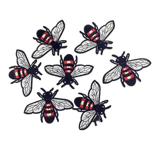 Hierro bordado en Parches para insectos ropa abejas punk Appliques ...
