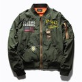 Hot Sale Mens Primavera Piloto MA1 Bombardeiro Jaqueta Fina Flying Tigers Baseball Legal Do Exército Militar Jaqueta de Vôo