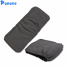 5 Pcs 5 Layers Baby Bamboo Charcoal Cloth Diaper Inserts Nappy Changing Mat Baby Reusable Diaper Inserts Changing Pad 13.5x35cm цена 2017