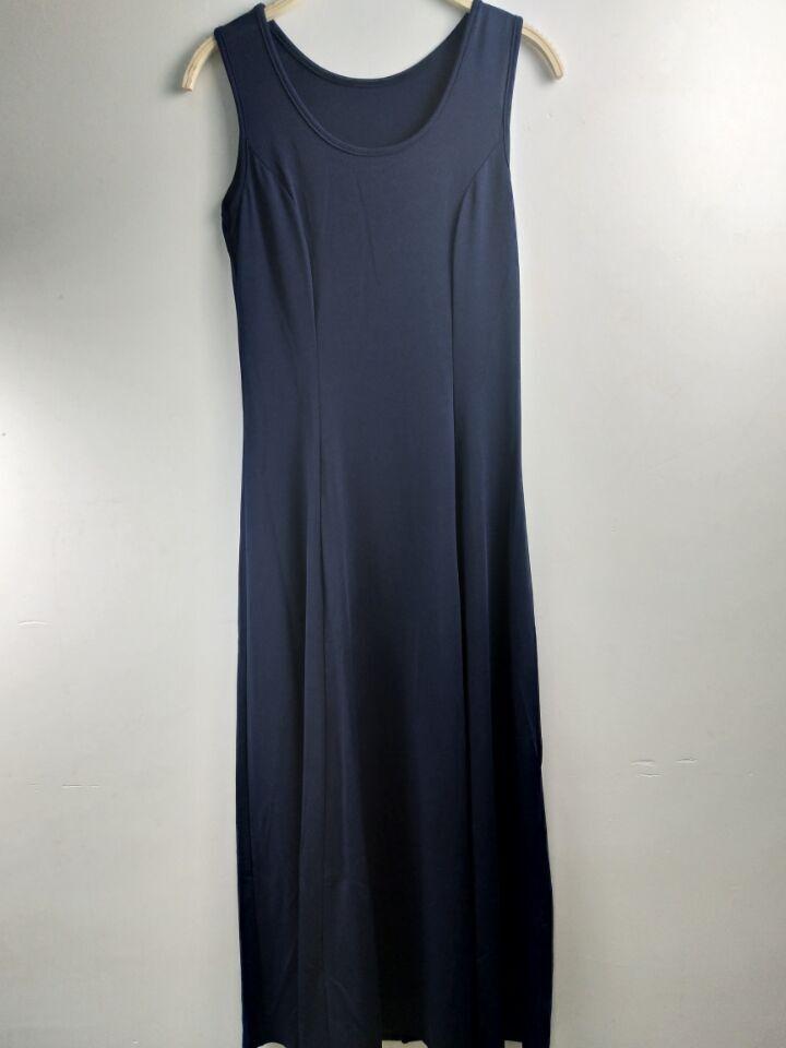 Летнее платье для женщин модное повседневное Макси платье размера плюс черные платья Бохо сарафан вечерние элегантные женские платья - Цвет: navy vest