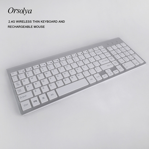 Image 2 - 2.4G Wireless Thin Keyboard and Rechargeable Mouse Combo English/Russian letters Keyboard set Silent key For Computer laptop PC
