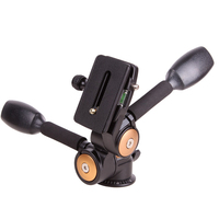 Aluminum Alloy DSLR Camera Handle Swivel Tripod Ball head can load up to 20kg with quick release plate