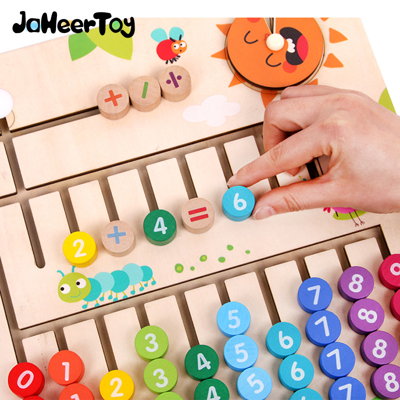 JaheerToy Wooden Math Toys For Children Montessori Materials Learning To Count Numbers Early Mathematics Education For Babies
