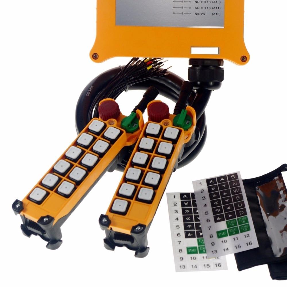 1PCS 5 Motion 1 Speed 2 transmitters Hoist Crane Remote Control System Emergency
