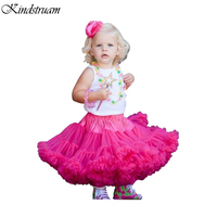 2016 Trend Ball Gown Skirts For Girls European American Style Pincess Baby Skirt Children Ruched Casual