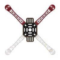 HJ 450 4-axis 450 F Frame Casco Vlam Wiel Sterke Gladde KK MK MWC Quadcopter Rood + Wit + Zwart