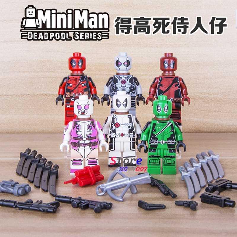 1PCS Sale star wars superhero marvel avengers Decool Gwen Deadpool building blocks figure sets model bricks toys for children