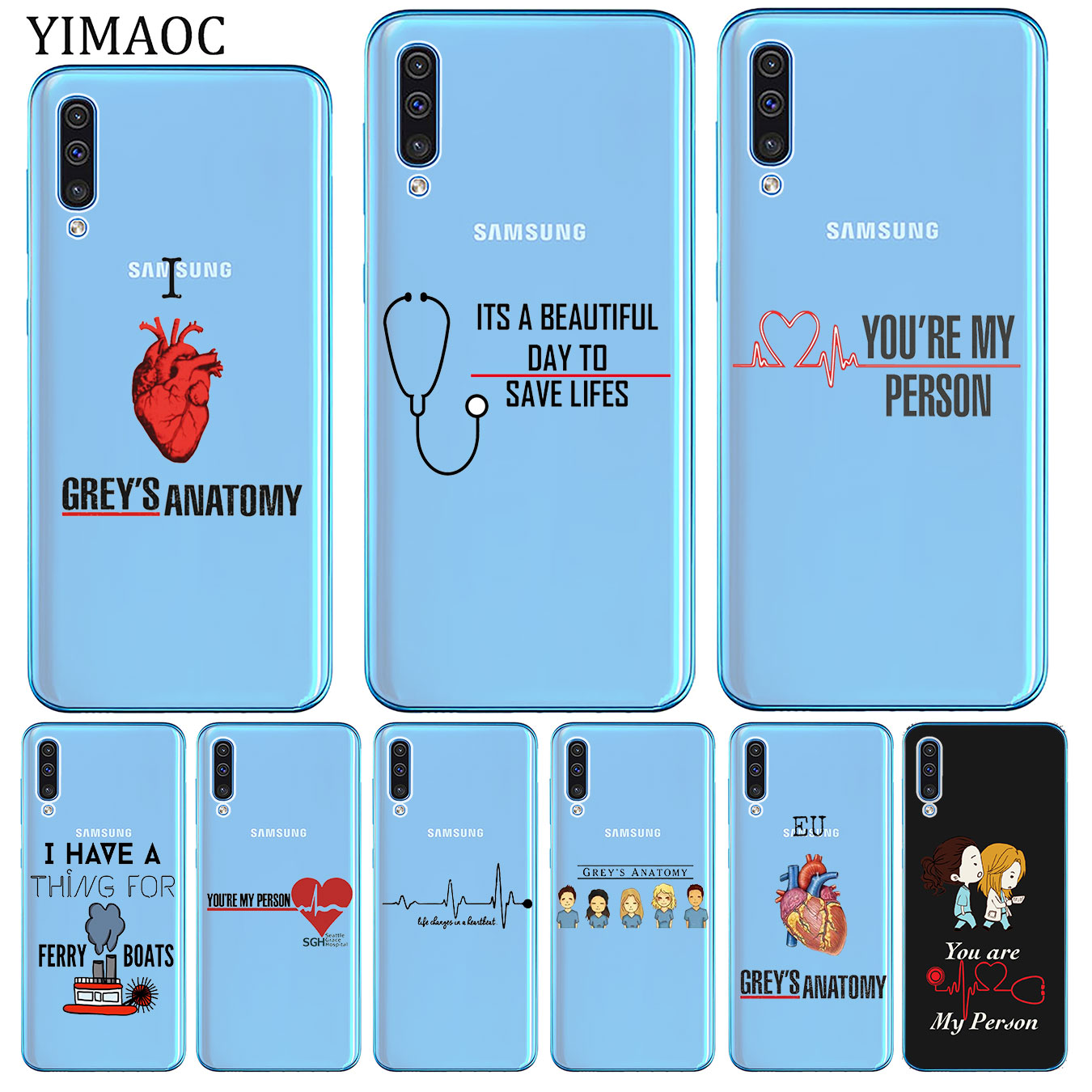 YIMAOC Grey's Grey is Anatomy TV Soft Phone Silicone <font><b>Case</b></font> for <font><b>Samsung</b></font> <font><b>Galaxy</b></font> <font><b>A70</b></font> A60 A50 A40 A30 A20 A10 M10 M20 M30 M40 A20E image