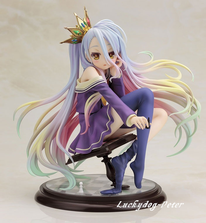 Action Figure Toy No Game No Life 1 8 scale painted figure Siro sexy Shiro cute
