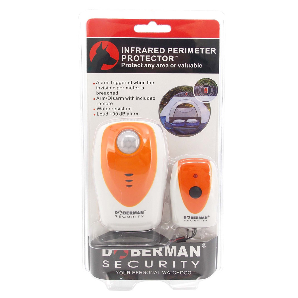 Doberman Security Infrared Perimeter Protector PIR Alarm Outdoor Camping Protection Waterproof Home Security Window Door Sensors in Sensor Detector from Security Protection
