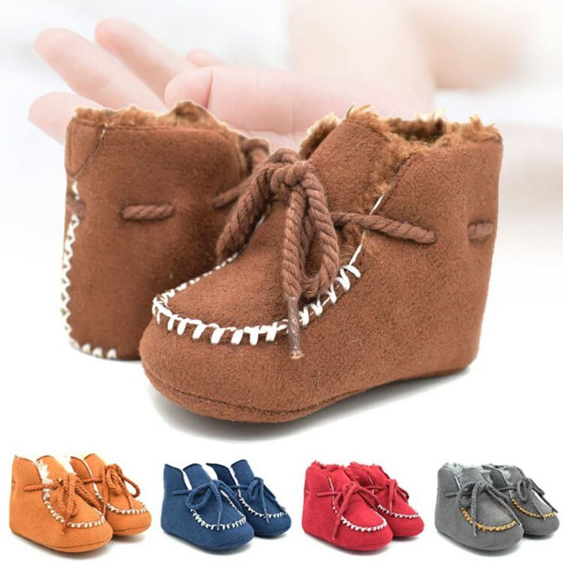 2018 Baby Shoes Casual Infants Warm Boots Kids Moccasins Plus Cotton Booties Winter Soli ...