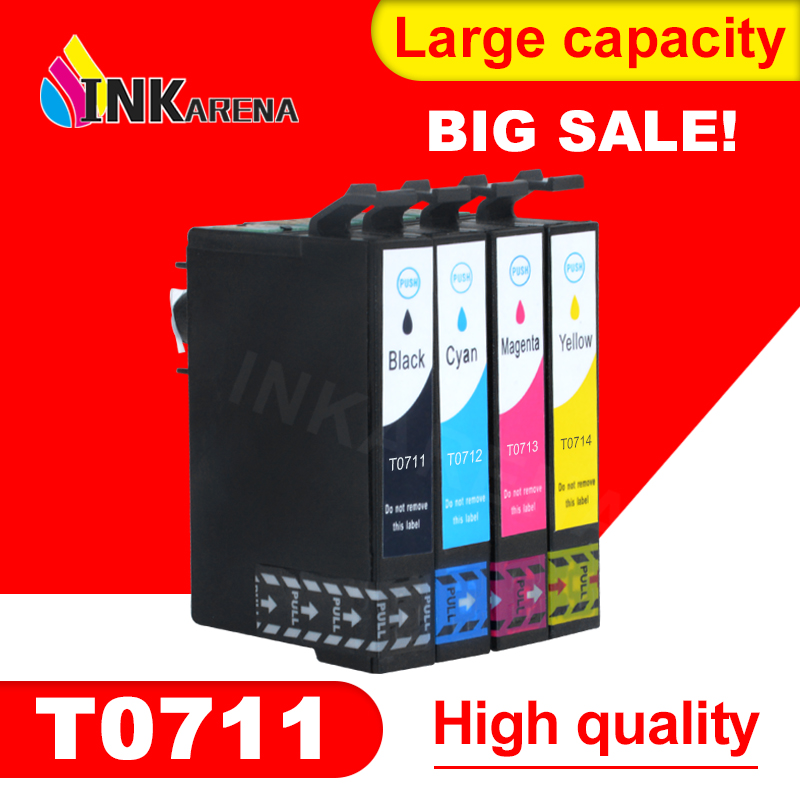 4 STKS T0711 Compatibele Inktcartridge voor Epson D78 D92 D120 DX4000 - Office-elektronica