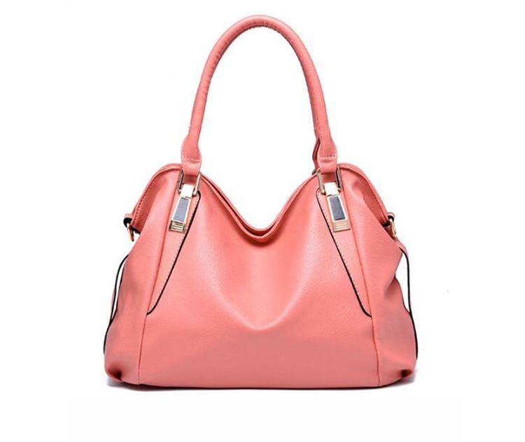 !Women Leather Handbags Classic Design Ladies Hand Bags Shoulder Bag Tote Hobos Bolsos Mujer Z54