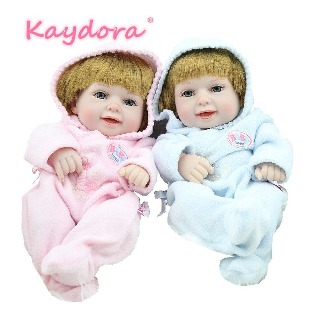 Kaydora 10 pouces 25 cm Adorable lol Mini Reborn Bebe poupées à la main offre spéciale bricolage reborn poupée jumeaux Style cadeau de noël