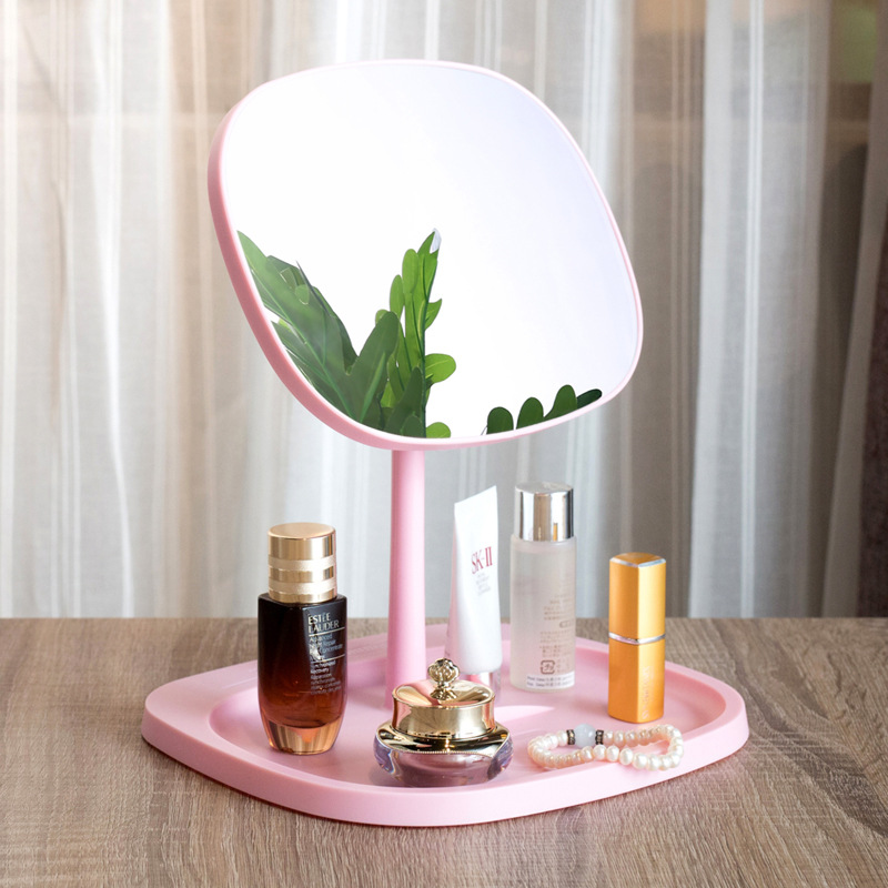 High List Face Makeup Mirror Desktop Vanity Mirrors Bathroom Vanity  Folding Mirroring Desktops Portable Beauty Tools