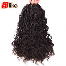 Silike 14 inch Curly Senegale Twist Crochet Braiding Hair 35 Roots Crochet Braids Hair Extension Low Temperature Fiber(China)
