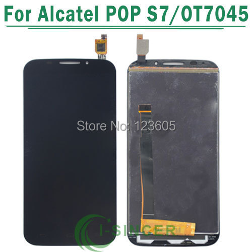 1/PCS Tested Glass LCD Display touch screen Digitizer assembly For Alcatel One Touch POP S7 OT7045 Black